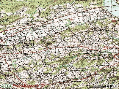 Yorkana topographic map