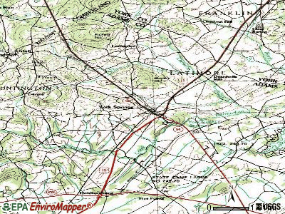 York Springs topographic map