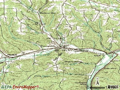Youngsville topographic map
