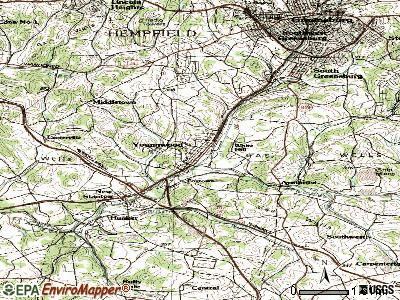 Youngwood topographic map