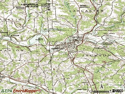 Zelienople topographic map