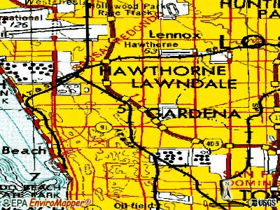 Lawndale topographic map