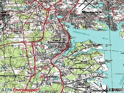East Greenwich topographic map
