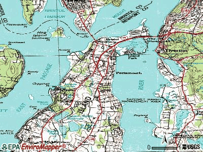 Portsmouth topographic map