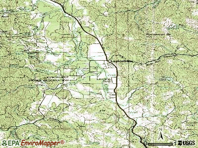 Laytonville topographic map