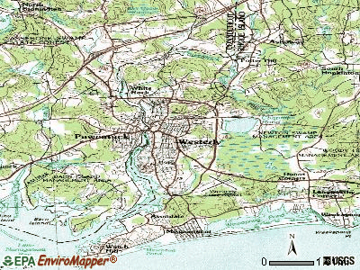 Westerly topographic map