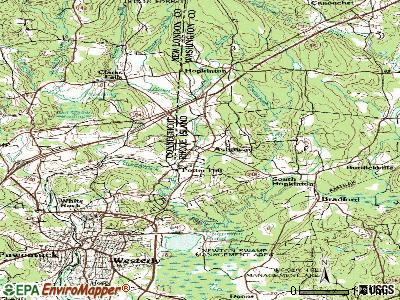 Ashaway topographic map
