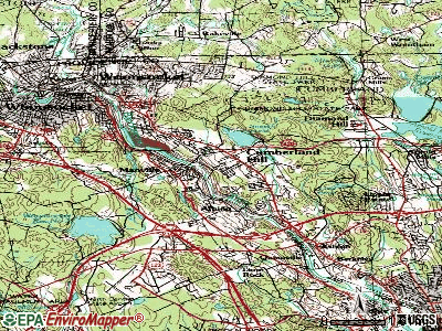 Cumberland Hill topographic map