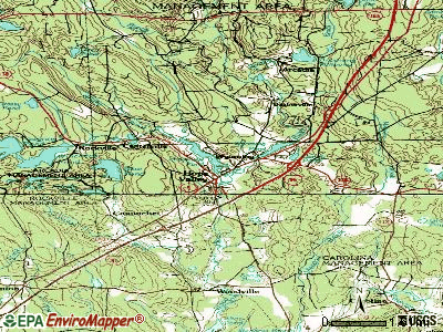 Hope Valley topographic map