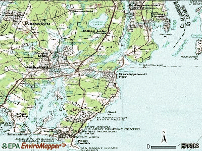 Narragansett Pier topographic map