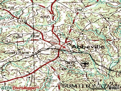 Abbeville topographic map