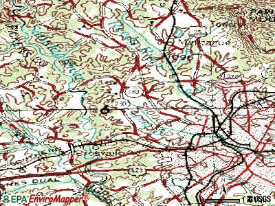 Berea topographic map