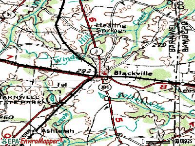 Blackville topographic map