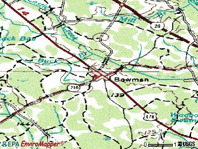 Bowman topographic map