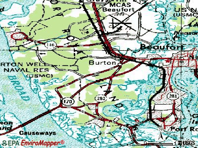 Brunson topographic map