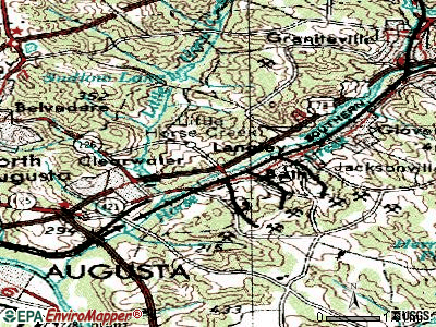 Burnettown topographic map