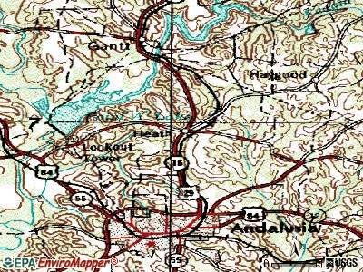 Heath topographic map