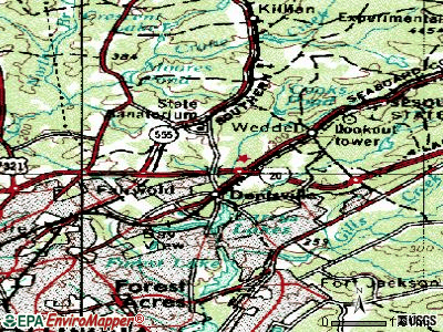 Dentsville topographic map