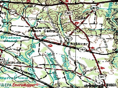 Eastover topographic map