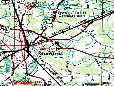 East Sumter topographic map