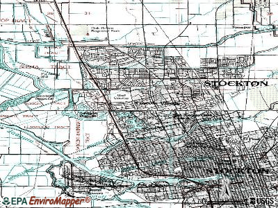 Lincoln Village topographic map