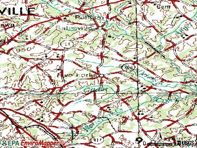 Five Forks topographic map