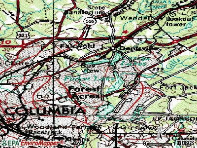 Forest Acres topographic map