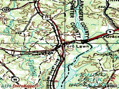 Fort Lawn topographic map