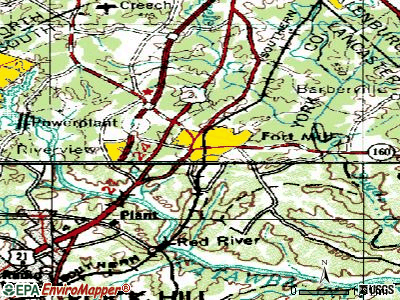 Fort Mill topographic map