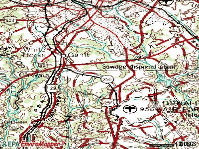 Gantt topographic map