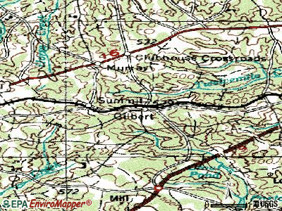 Gilbert topographic map