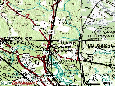 Goose Creek topographic map