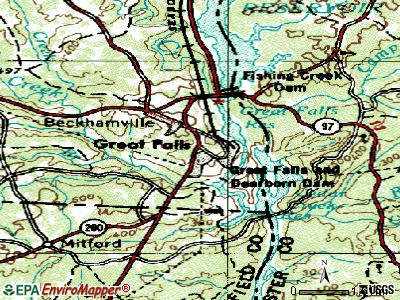Great Falls topographic map