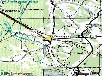Greeleyville topographic map