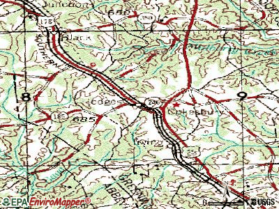 Hodges topographic map