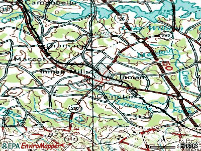 Inman topographic map