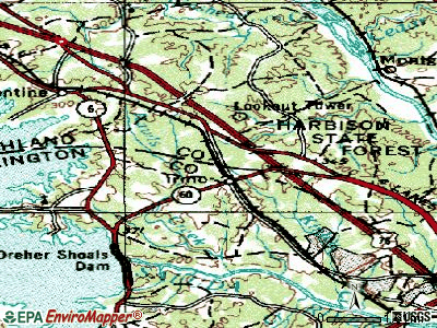 Irmo topographic map