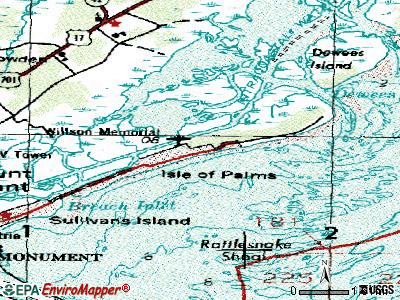 Isle of Palms topographic map