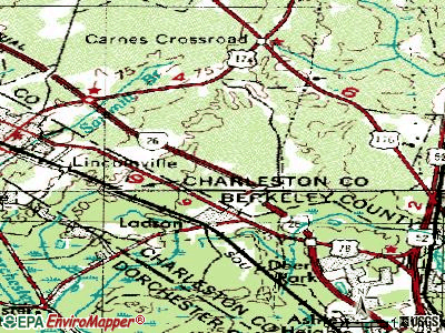 Ladson topographic map