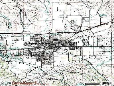 Livermore topographic map