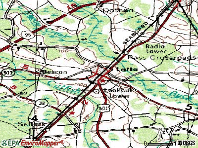 Latta topographic map