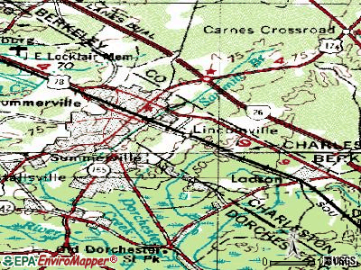 Lincolnville topographic map