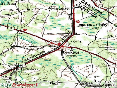 Loris topographic map