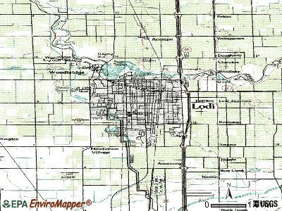 Lodi topographic map