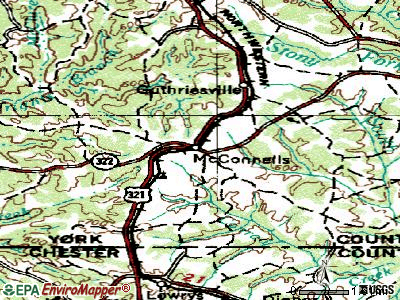 McConnells topographic map