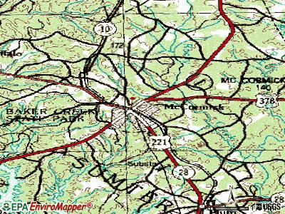 McCormick topographic map