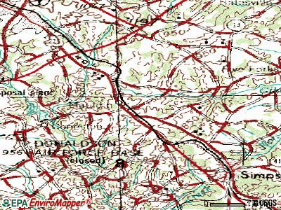 Mauldin topographic map