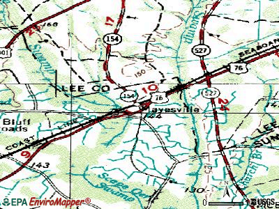 Mayesville topographic map