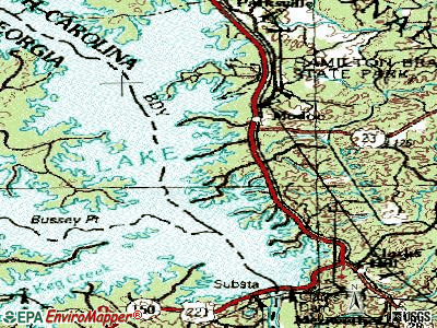 Modoc topographic map