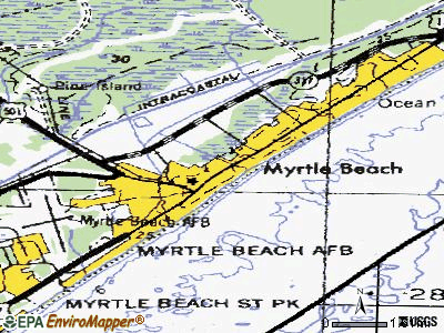 Myrtle Beach topographic map
